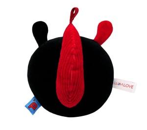 Miękka piłeczka czerwono-czarna